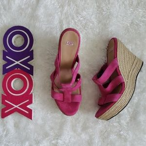 UGG tawnie pink espadrille wedge